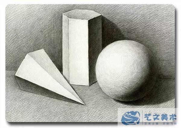 我们为什么画素描石膏几何体?